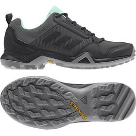 adidas TERREX AX3 Hiking Shoes Lightweight Women, grey five/core black/clear mint